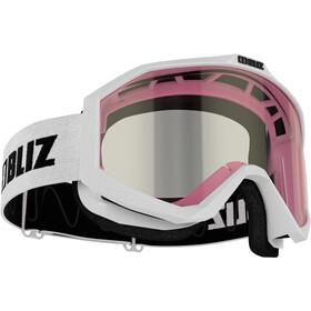 Bliz Liner Gogle Contrast Lens Dzieci, white-black/pink